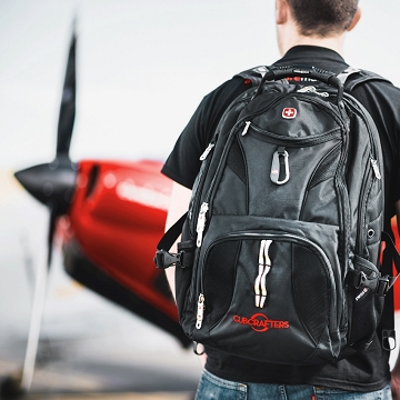 Black Backpack with CubCrafters logo