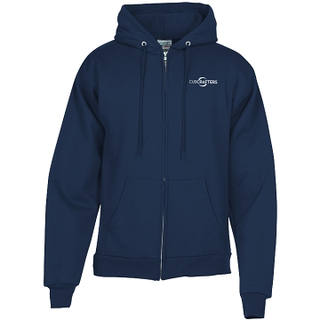 Ultimate Full Zip embroidered Navy Hoodie