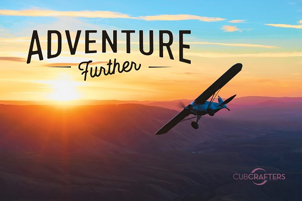 Poster, 36x24, Carbon Cub FX3 Over Rainbow Valley