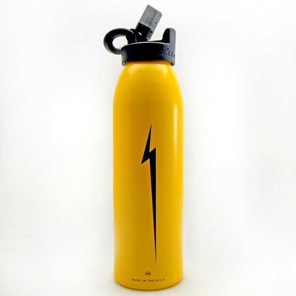 Yellow CubCrafters water bottle with Bolt